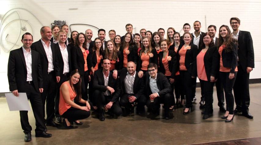 CalvVoci mit den Sängerinnen von Giocoso aus den Niederlanden